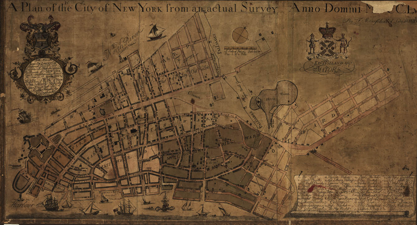 A plan of the city of New York from an actual survey... (detail)