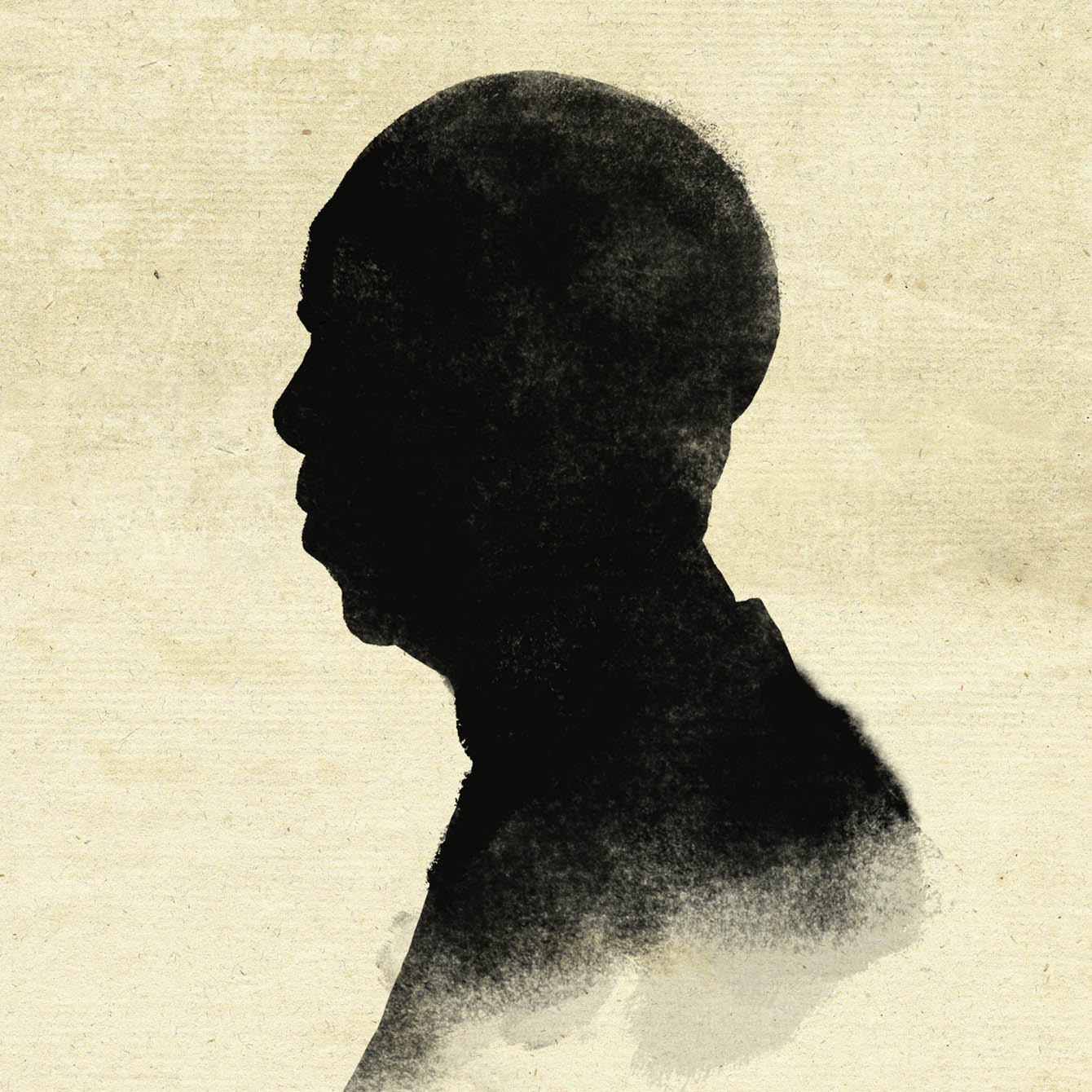 Silhouette of an Elderly Man