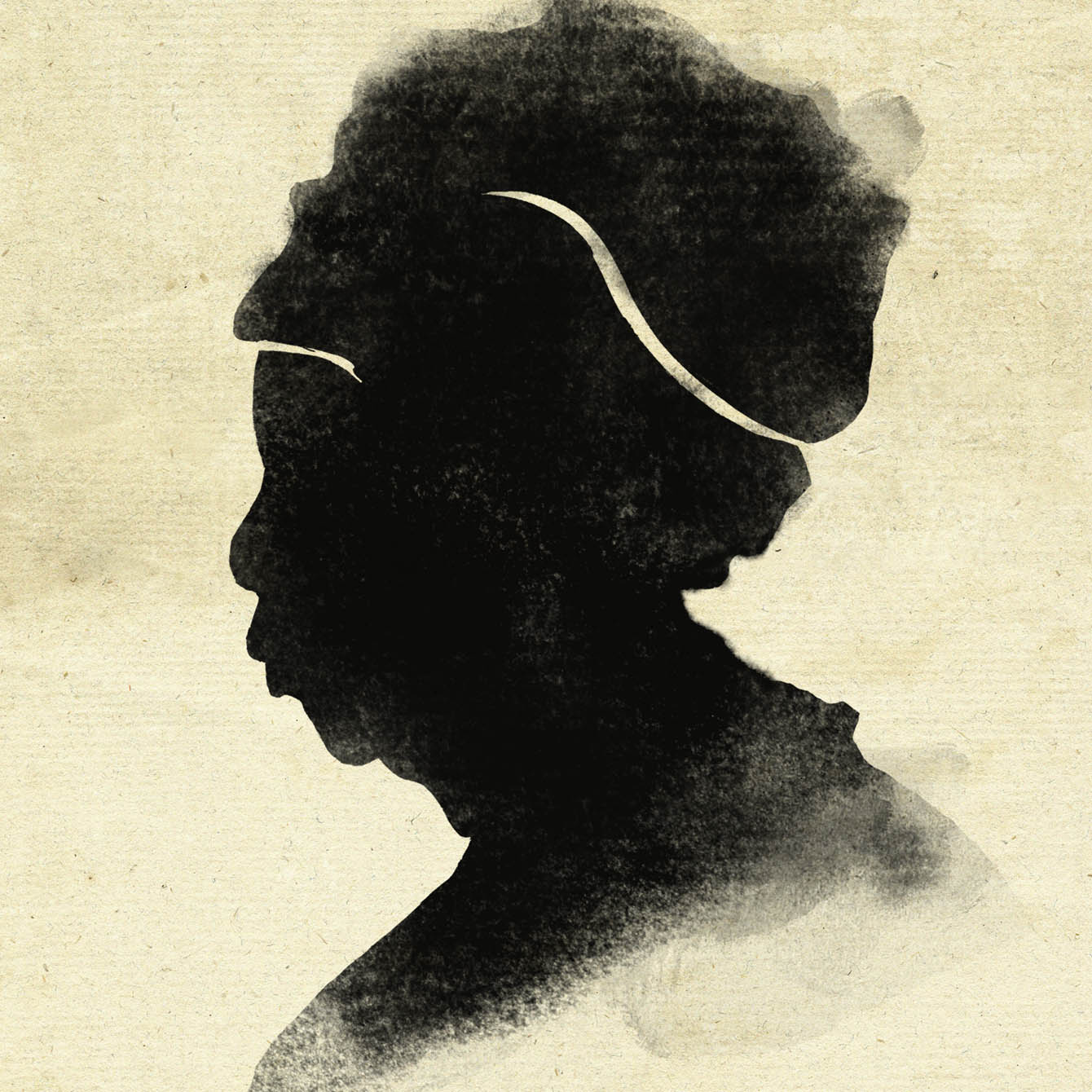 Silhouette of an Elderly Woman
