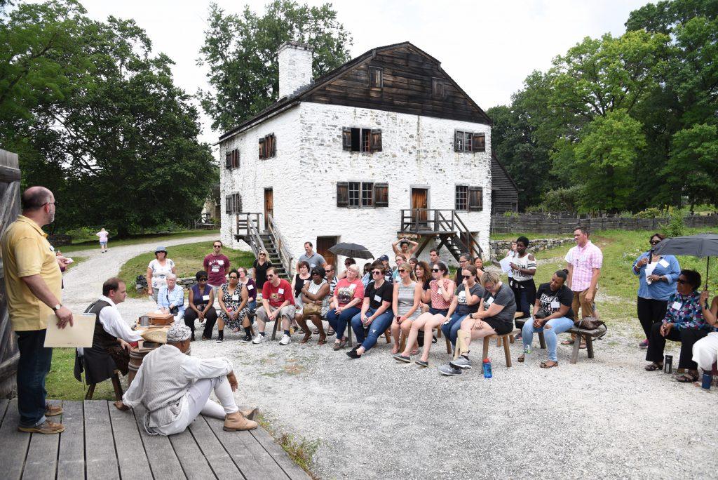 Teachers visit Philipsburg Manor